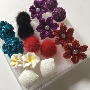 Jewelry - New women's 8 pairs flowers Fashion Earrings